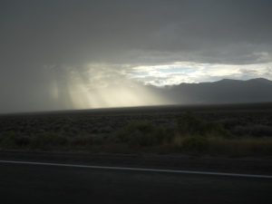 Nevada storm with scary flash flood