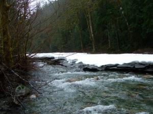 Snow-melt water.
