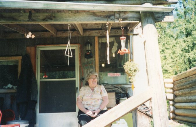 Mom at cabin